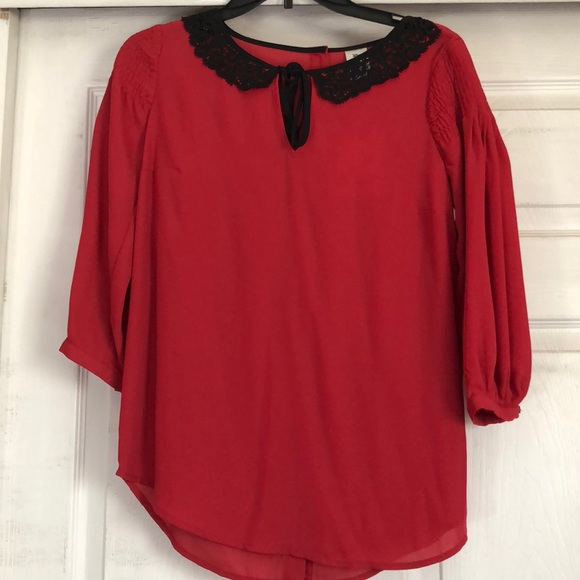 Disney Lauren Conrad Tops - Disney Lauren Conrad Snow White red blouse NWT